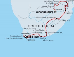 South-Africa global route