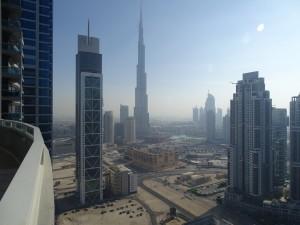 Burj Khalifa from balcony